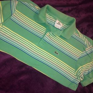 Boys Lacoste Stripped Polo Shirt